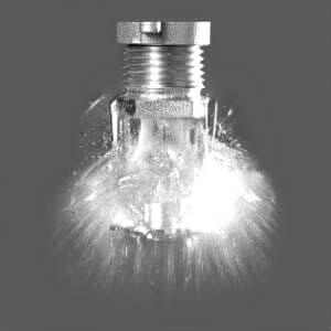 fire sprinkler head BW